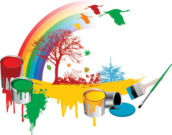 油漆桶彩虹树木_矢量生活用品 - 素材中国_素材cnn