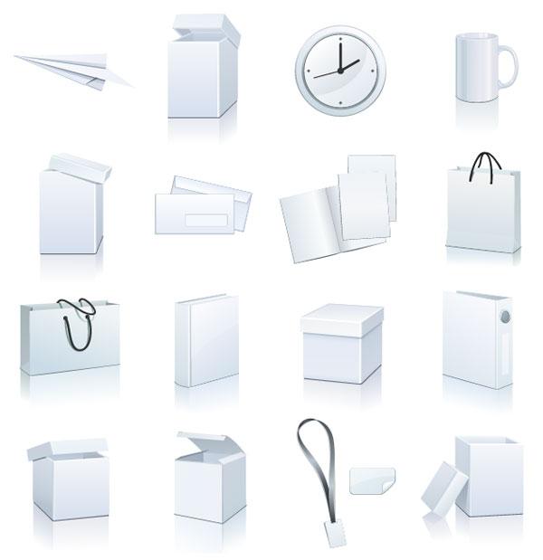 0 点 关键词: 空白物品图标矢量素材,纸飞机,纸盒,盒子,时钟,马克杯