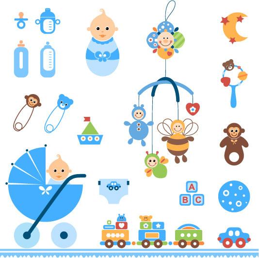 素材分类: 矢量卡通物品所需点数: 0 点 关键词: 可爱婴儿玩具矢量素