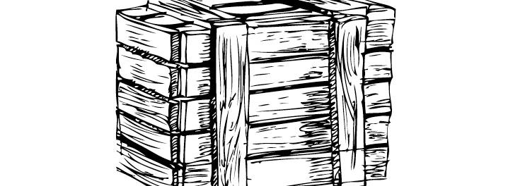 黑白木箱矢量_矢量生活用品