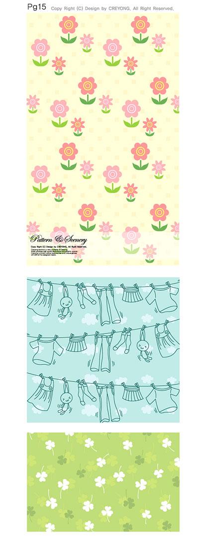 0 点 关键词: 可爱背景矢量,ai格式,花朵,晾衣服,衣物,连续背景,可爱