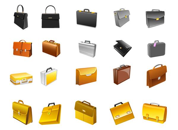 素材分类: 矢量各式图标所需点数: 0 点 关键词: 公文包图标,办公