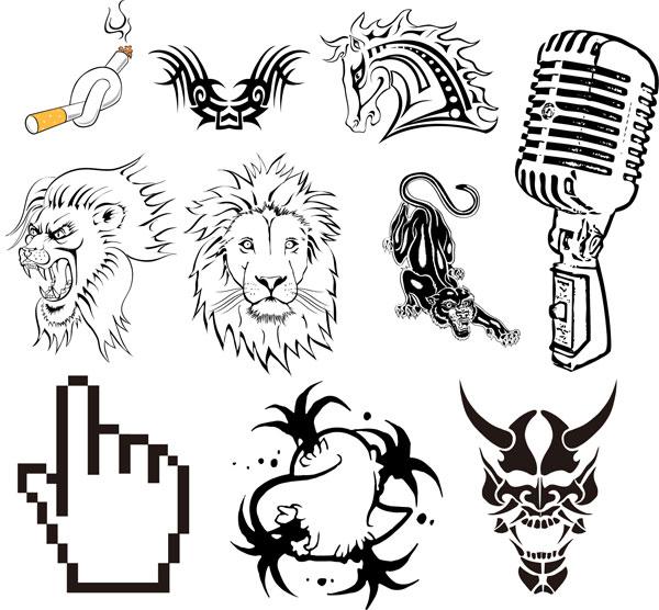 豹头腾纹身手绘