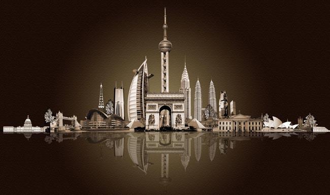 著名建筑物psd_素材中国sccnn.com