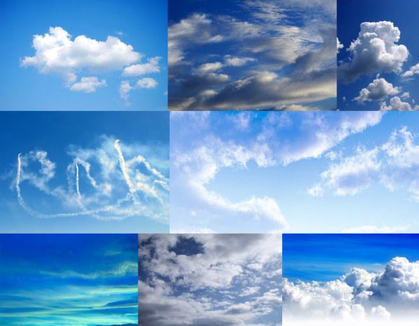 素材分类: 自然风景所需点数: 0 点 关键词: 8张蓝天白云高清图片,蓝