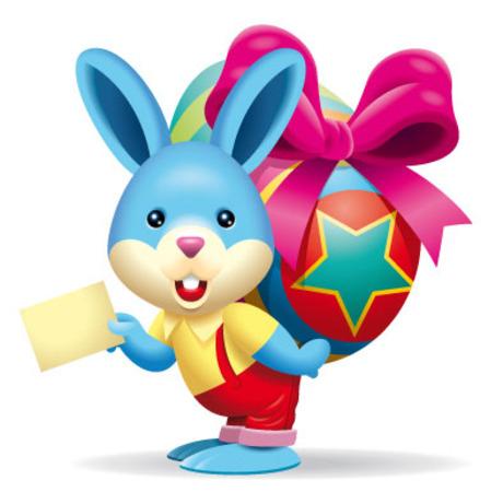 可爱的卡通小兔子—背彩蛋(三)
