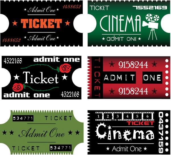 矢量电影票