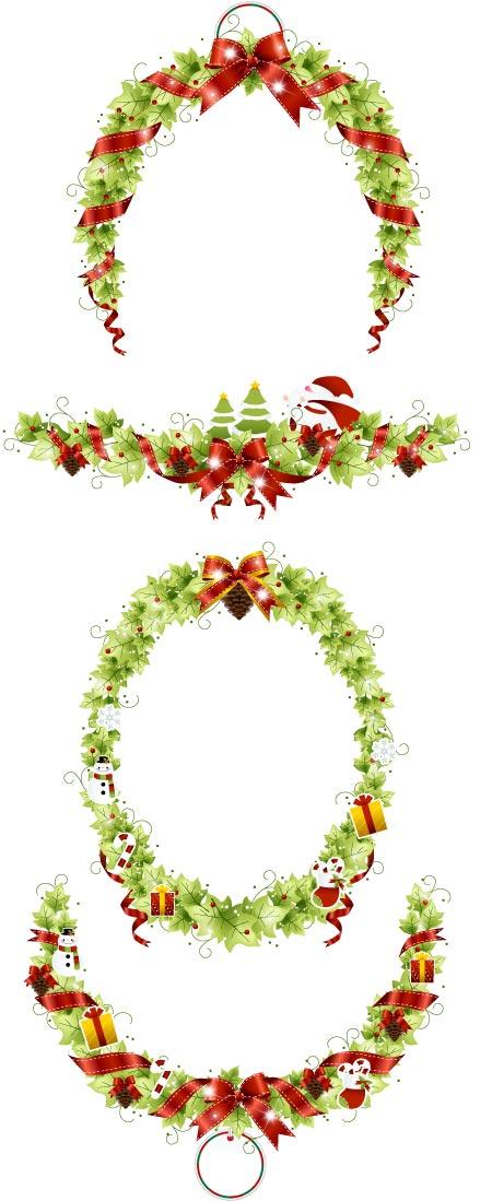 圣诞花环1_矢量圣诞节