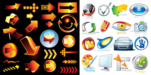 拼图,刷新,眼镜,数码相机,圆形,汽车,手掌,调色板,画笔,显示器,树叶