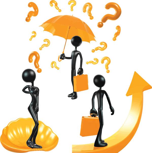 0 点 关键词: 黑色3d小人矢量素材,立体,3d,问号,雨伞,打伞,手提包