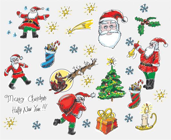手绘圣诞卡通
