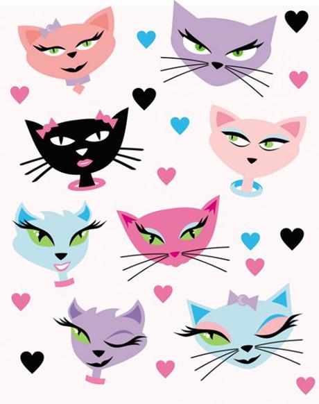 可爱小猫卡通_矢量卡通动物