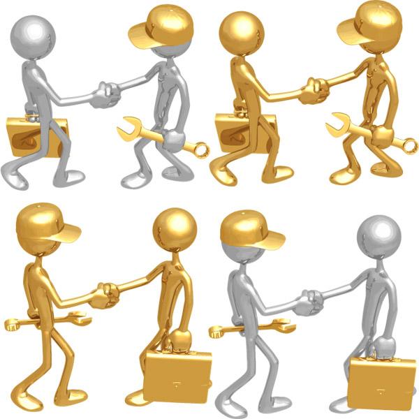 0 点 关键词: 3d小人握手矢量素材,金色,银色,3d,人物,握手,工人,白领