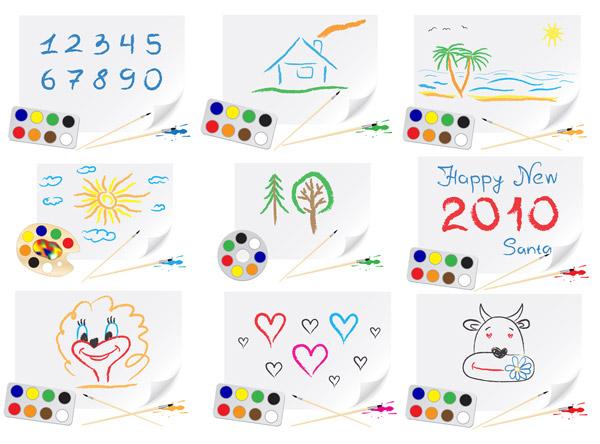 素材分类: 矢量卡通角色所需点数: 0 点 关键词: 可爱的儿童画主题