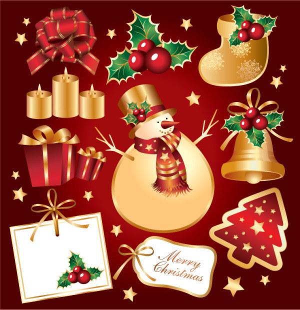 金色圣诞节元素