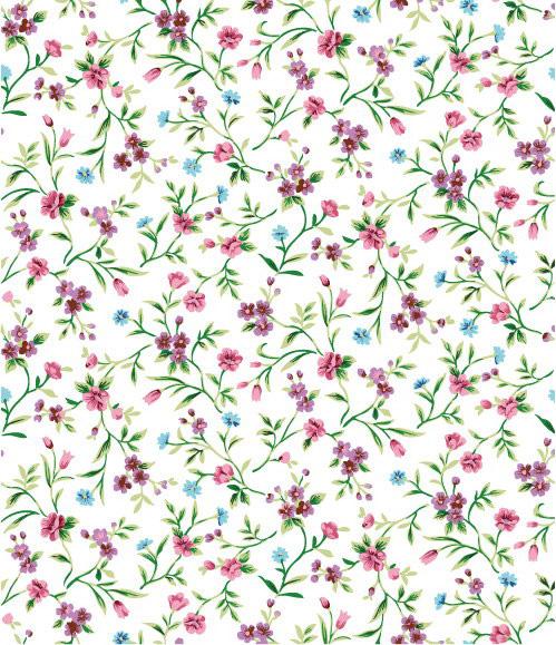 紫色小碎花花朵背景矢量素材