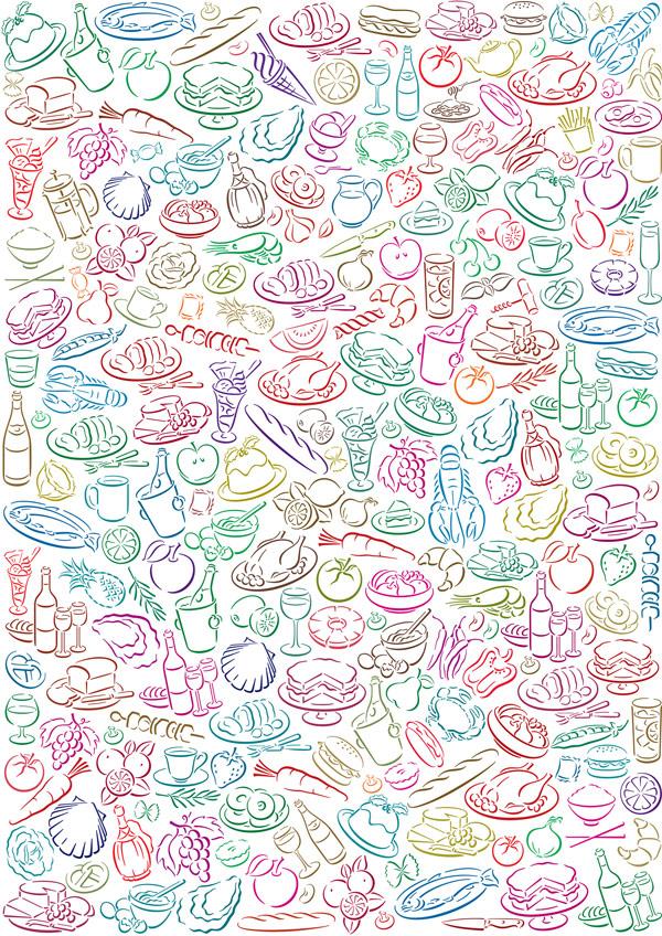可爱饮食背景_素材中国sccnn.com