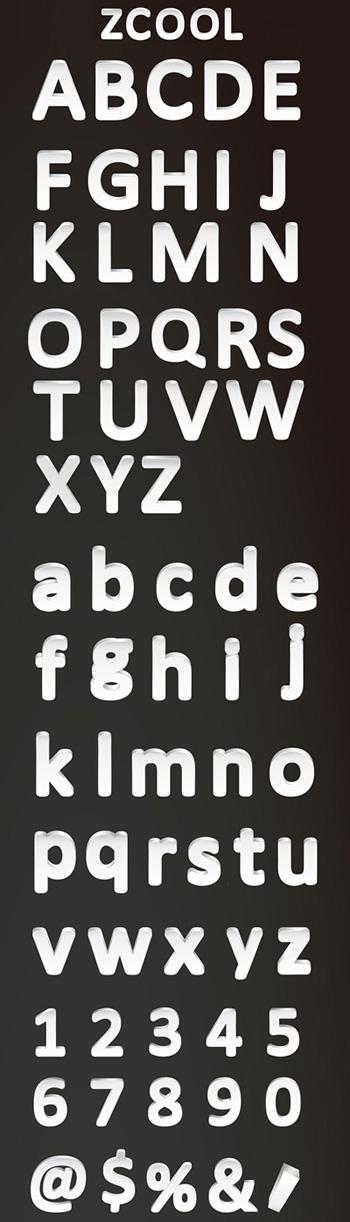 卡通,立体,英文字母,大小写英文字母,26个英文字母,艺术字,数字,符号
