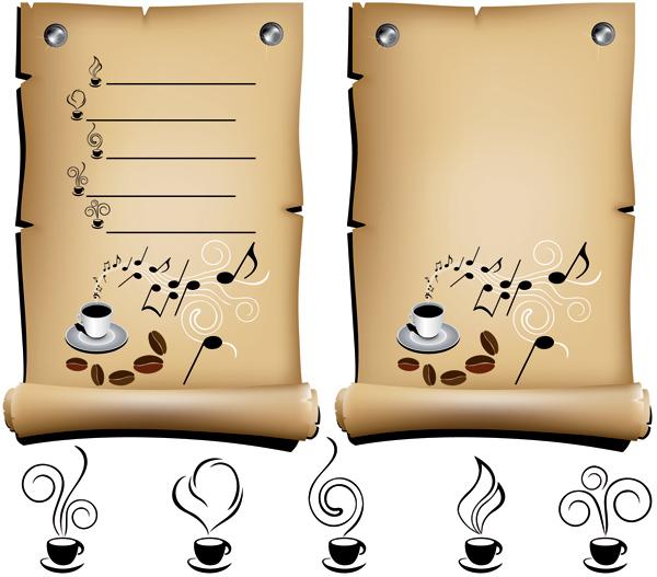 纸质做的手提咖啡的矢量结构设计包装展开图