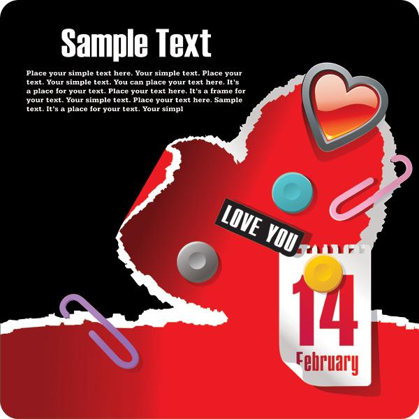 关键词: 214情人节主题矢量素材,2月14日,情人节,手撕,心形,水晶心形