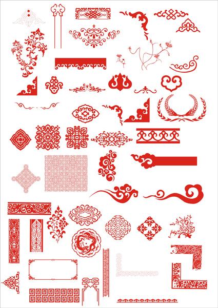 0 点 关键词: 中国古典精品花纹矢量素材,花纹,装饰,古典,中国风