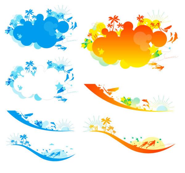 素材分类: 矢量潮流所需点数: 0 点 关键词: 缤纷的沙滩矢量素材