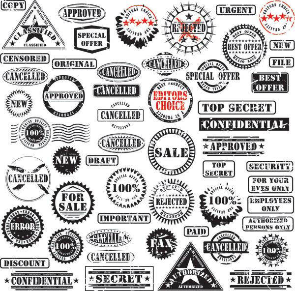各种外国印章