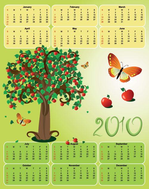 2010苹果树日历
