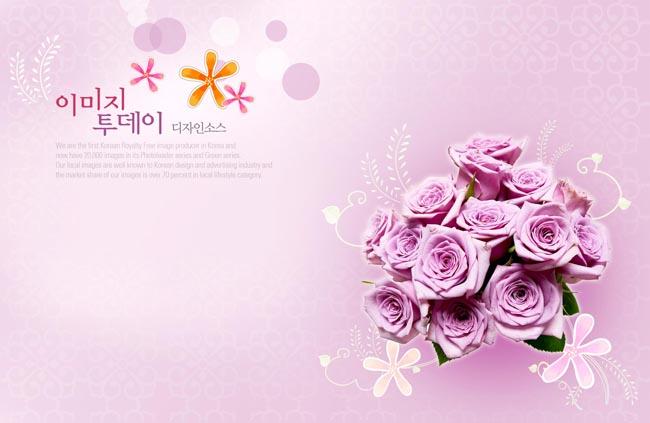 时尚花朵背景