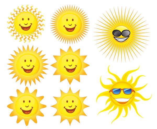 可爱的太阳表情