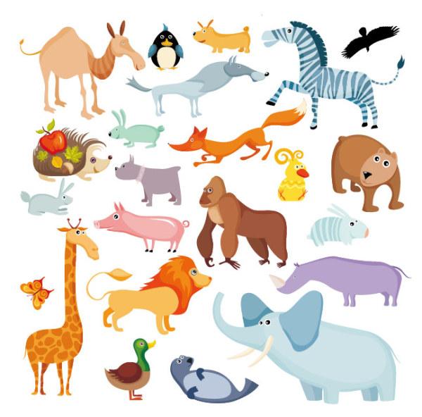 素材分类: 矢量卡通动物