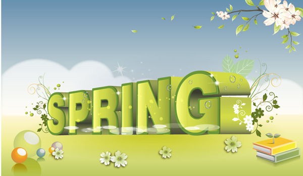 春天英文字体