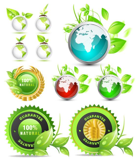 素材 图标/绿叶环保图标