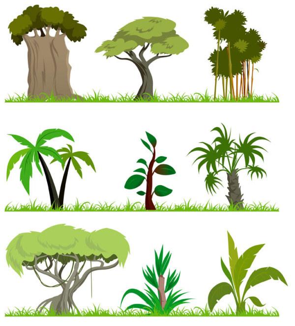 卡通手绘树木贴图