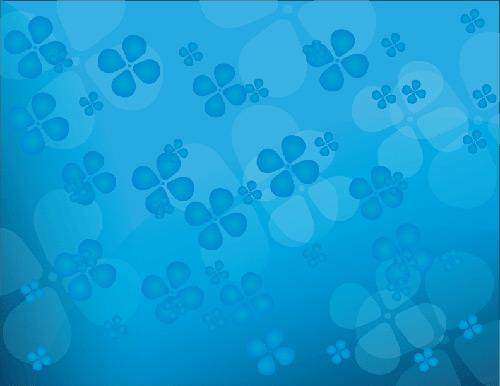 蓝色小花欧式壁纸图片