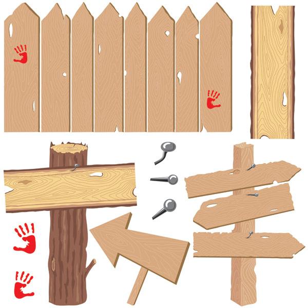 木板物品矢量_素材中国sccnn.com