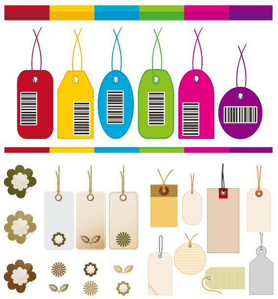 关键词: 吊牌标签矢量素材,吊牌,标签,tag,纸牌,树叶,花朵,条形码