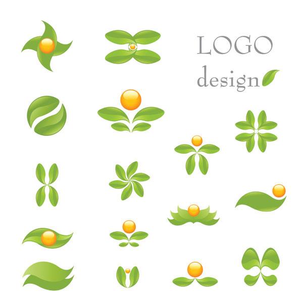 绿叶主题logo_素材中国sccnn.com