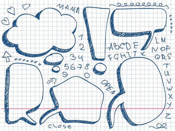 素材分类: 矢量各式图标所需点数: 0 点 关键词: 可爱手绘对话泡泡
