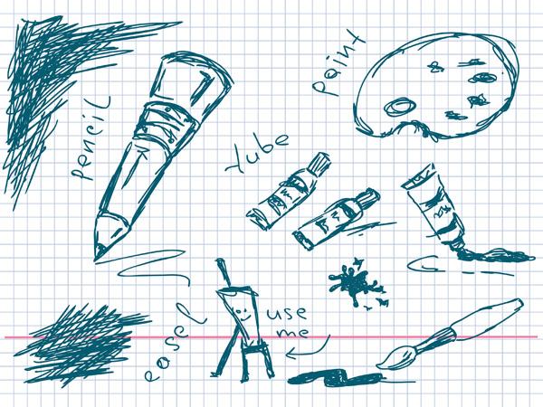 美术手绘线条学习用品