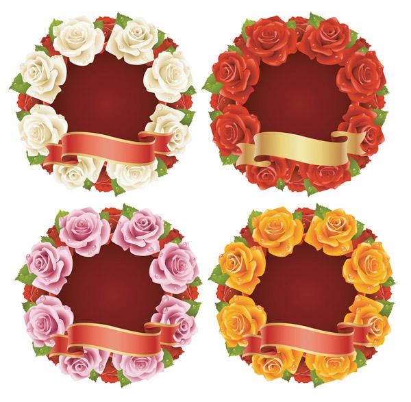 玫瑰花与丝带