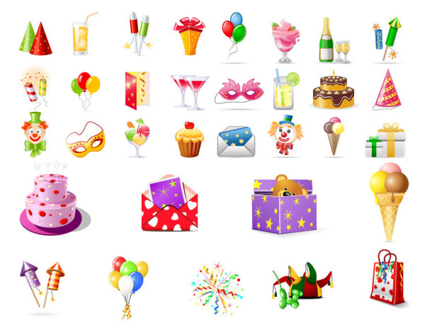 birthday icons:
