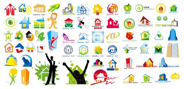 房子主题logo图形