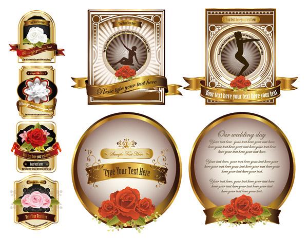 玫瑰花label