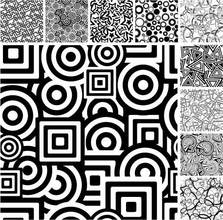 0 点 关键词: 多款黑白图形背景矢量素材,圆形,五角星,星星,线条