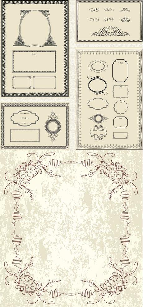 0 点 关键词: 欧洲古典装饰边框矢量素材,古典,欧洲,装饰,边框,复古