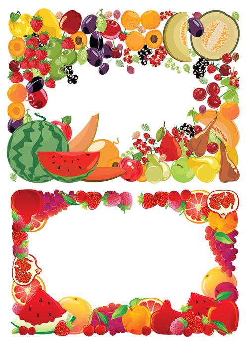 水果边框矢量_矢量花边