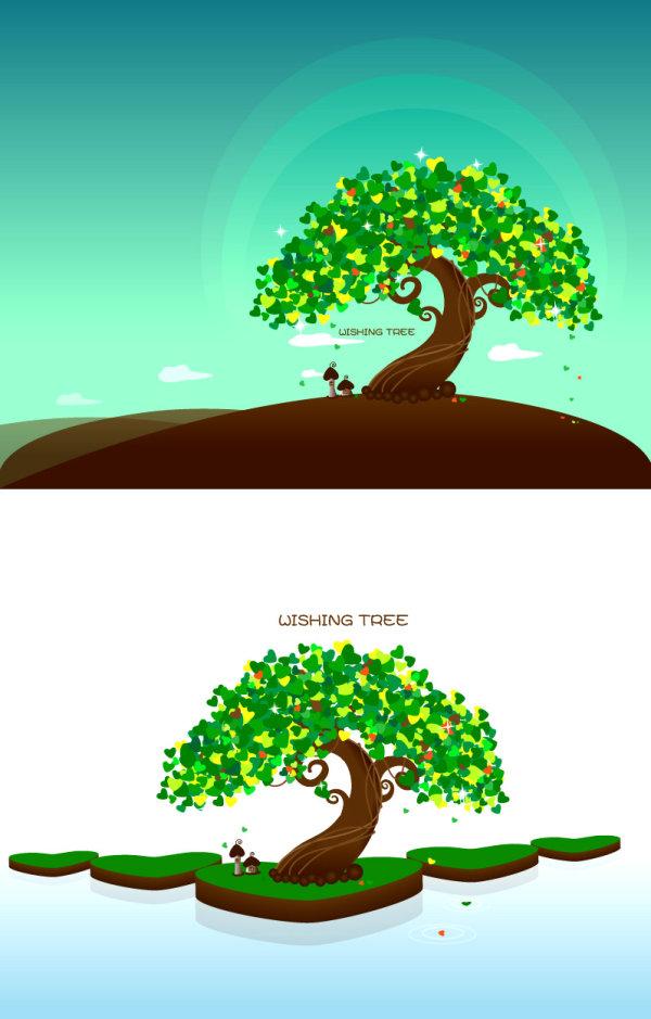 愿望树矢量