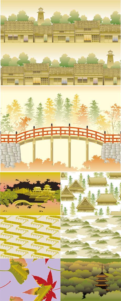 关键词: 日系和风主题背景素材,日式图案,和风,日式,风格,背景,矢量