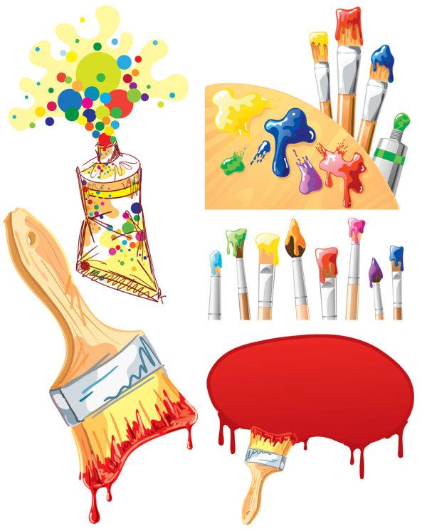 素材分类: 矢量学习用品所需点数: 0 点 关键词: 绘画笔刷背景矢量